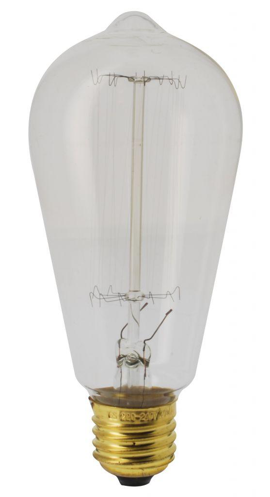 girard sudron 15995 ampoule edison filament droit 60w e27 220 volts. Black Bedroom Furniture Sets. Home Design Ideas
