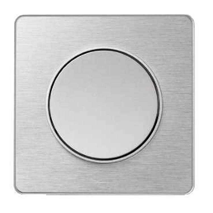 Schneider s530802j odace touch plaque aluminium bross avec liser alu 1 poste - Plaque alu brosse ...