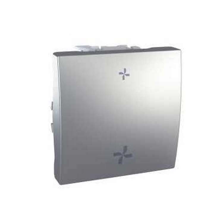 schneider unica alu interrupteur vmc 2 vitesses sans position arr t 2 modules. Black Bedroom Furniture Sets. Home Design Ideas