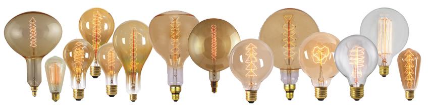 Ampoules filaments rétro, Edison, Globes, Géantes...