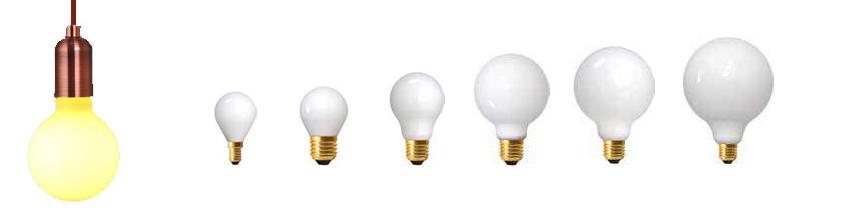 Ampoules à filaments leds opalines