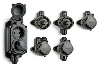 Prises et interrupteurs en saillie type industriel