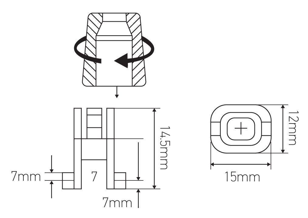 Serre-câble Pour douille, culot trou lisse ø 10 mm T.115°C (231139)