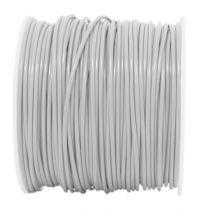 Câble PVC rigide rond White' 1x0.5mm², roule de 100 m (236401)