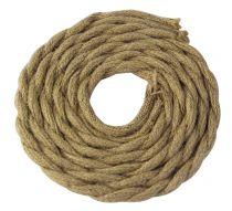 Cable textile torsadé  Chanvre, 2 x 0,75mm souple, 2 metres (187598)