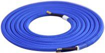 Cable textile Bleu, 2 x 0,75mm souple, 2 metres (189602)