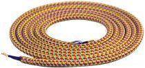 Cable textile Mélange de rouge & violet, 2 x 0,75mm souple, 2 metres (189609)