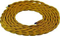 Cable textile torsadé  Or, 2 x 0,75mm souple, 2 metres (189610)
