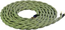 Cable textile torsadé  Gris clair, 2 x 0,75mm souple, 2 metres (189614)