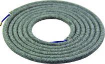 Cable textile Gris foncé, 2 x 0,75mm souple, 2 metres (189624)