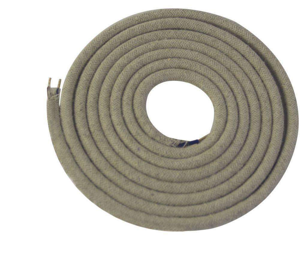 Cable textile Ecru chiné, 2 x 0,75mm souple, 2 metres (189631)