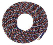 Cable textile Mélange de couleur, 2 x 0,75mm souple, 2 metres (189638)