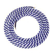 Cable textile Spirale bleu & blanc, 2 x 0,75mm souple, 2 metres (189642)