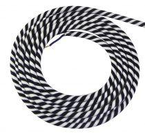 Cable textile Spirale noir & blanc, 2 x 0,75mm souple, 2 metres (189643)