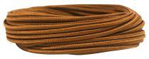 Câbles textile méplat Marron' 2x0.5mm², roule de 25 m (237572)