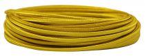Câbles textile méplat Or' 2x0.5mm², roule de 25 m (237577)