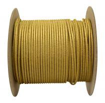 Câbles textiles méplat Or' 2x0.34mm², roule de 100 m (237647)