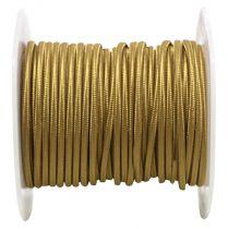Câbles textiles méplat Or' 2x0.34mm², roule de 25 m (237648)
