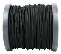 Câble textile méplat Noir' 2x0.75mm², roule de 100 m (237711)