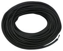 Câble textile rond Noir' 2x0.75mm², roule de 25 m (237881)