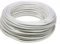 Câble textile rond Blanc' 2x0.75mm², roule de 25 m (237893)
