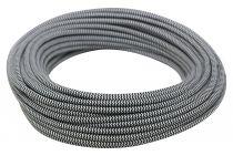 Câble textile rond Noir & blanc' 2x0.75mm², roule de 25 m (237895)