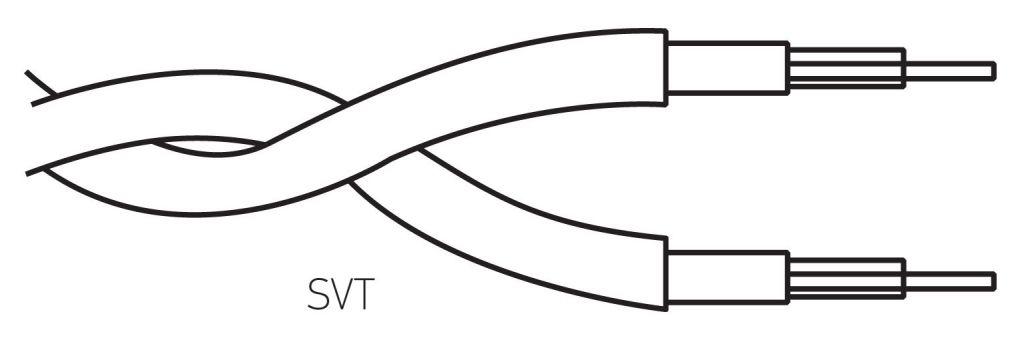 Câble textile torsadé Marron' 2x0.75mm², roule de 25 m (237142)