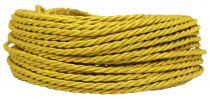 Câble textile torsadé Or' 3x0.75mm², roule de 25 m (237457)