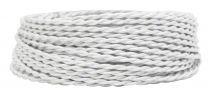 Câble textile torsadé Blanc' 2x0.5mm², roule de 50 m (237943)