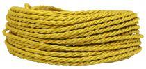 Câble textile torsadé Or' 2x0.5mm², roule de 50 m (237947)