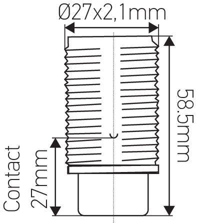 Douille E14 avec Chemise filetée à culot percé Or (213627)