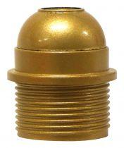 Douille E27 avec Chemise semi-filetée avec la terre et bague Or vernissé (216137)