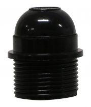 Douille E27 avec Chemise semi-filetée avec portée Noir (216571)