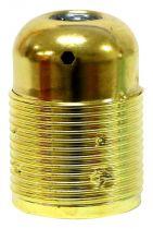 Douille métal E27 avec chemise filetée + terre, couleur Or (220879)