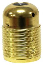 Douille démontée chemise lisse E 27 métal Acier laitonné (220936)