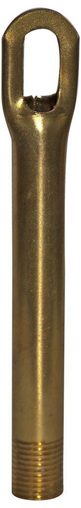 Tube pour pavillon Mâle, diametre 10mm,  hauteur 90mm, Laiton décapé (282039)