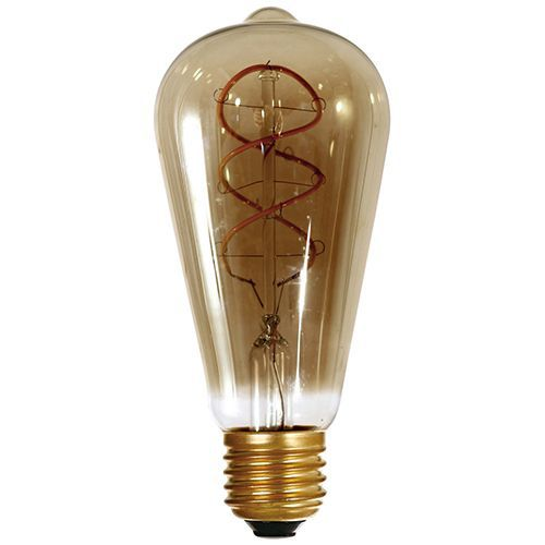Ampoule Edison filament LED twisted 5W E27 2000K 220Lm Smoky (716675)
