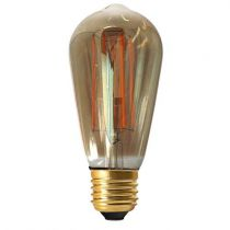 Ampoule Edison filament LED 4W E27 2100K 200Lm dimmable Smoky (715980)