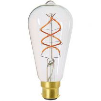 Ampoule Edison filament LED twisted 4W B22 2200K 240Lm dimmable Claire (716679)