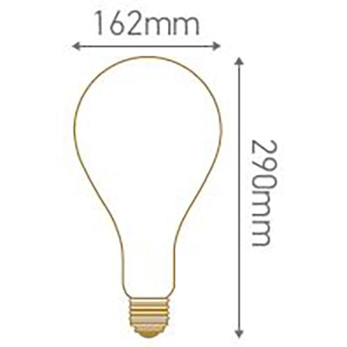 Ampoule géante filament LED twisted 290mm 6W E27 2000K 240Lm dimmable Smoky (716698)