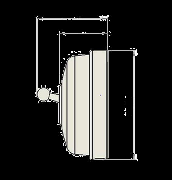 Dimbler va-et-vient, corps en porcelaine noire/manette chrome (60308342)