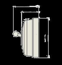 Dimbler bouton poussoir, corps en porcelaine noire/manette cuivre (60312322)