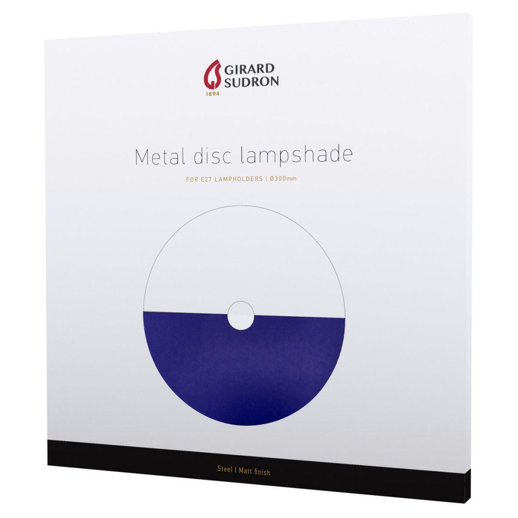 DISKY - Abat-jour métal Ø300mm bleu outremer