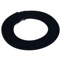 Câble textile coton rond 2 x 0.75mm² L.2m noir