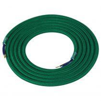 Câble textile coton rond 2 x 0.75mm² L.2m vert profond