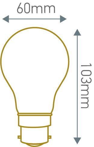 ECOWATTS - Standard A60 filament LED 8W B22 2700K 980lm claire