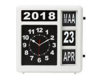 Horloge Murale À Chiffres Sautants Avec Calendrier - 31 X 31 Cm - Néerlandais (WC106)