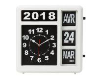 Horloge Murale À Chiffres Sautants Avec Calendrier - 31 X 31 Cm - Français (WC107)