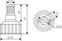 ADAPTATEUR E14-GU10 BLANC (158465)