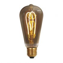 Ampoule Edison filament LED loops 4W E27 2000K160Lm dimmable Smoky (716674)